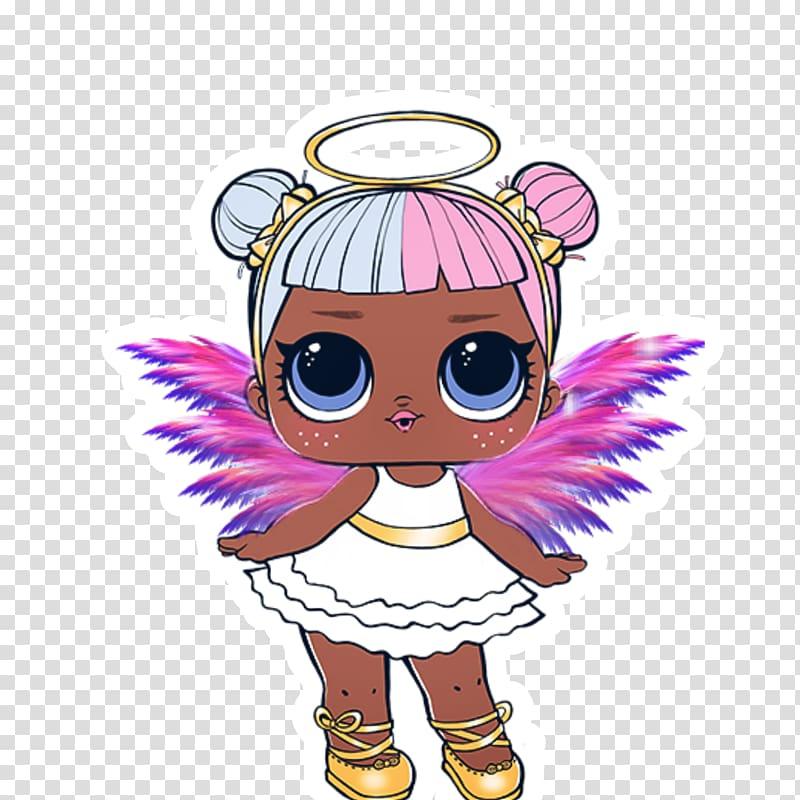 Girl in white mini dress illustration, Sugar cookie Cupcake.