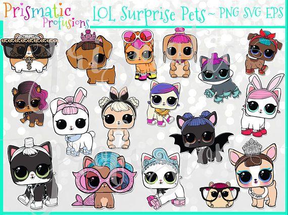LOL Surprise Doll Pets Edition / Image Clipart / Digital.