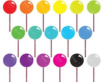 Lollipops clipart.