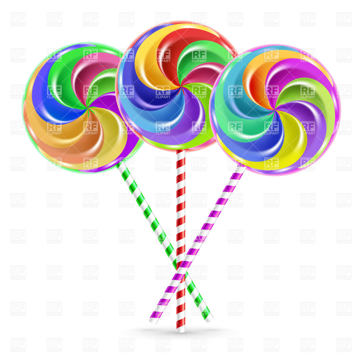 Swirly Lollipops Clipart.