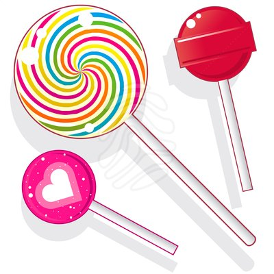 Swirly Lollipops Clipart.