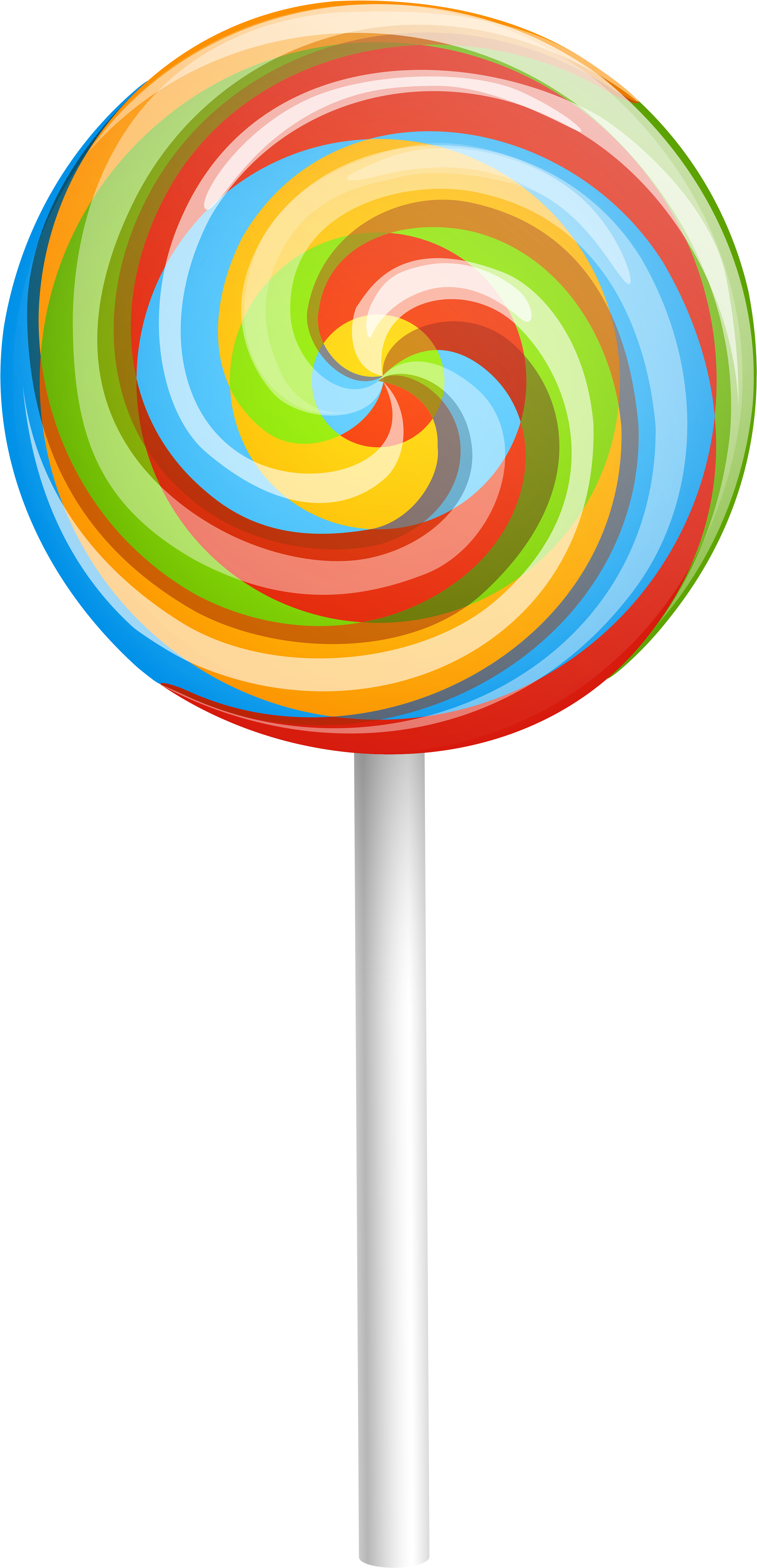Rainbow Swirl Png Lollipop Clipart.