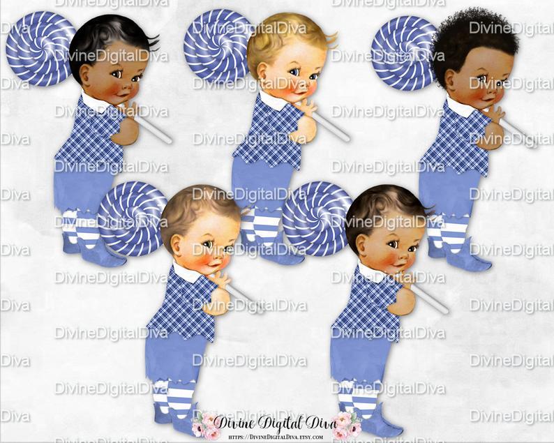 Wizard of Oz Lollipop Guild Blue Shorts Striped Socks Plaid Shirt.