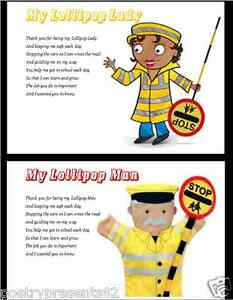 Details about Thank You Lollipop Lady/Man.