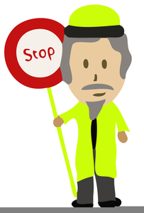Lollipop Lady Clipart.