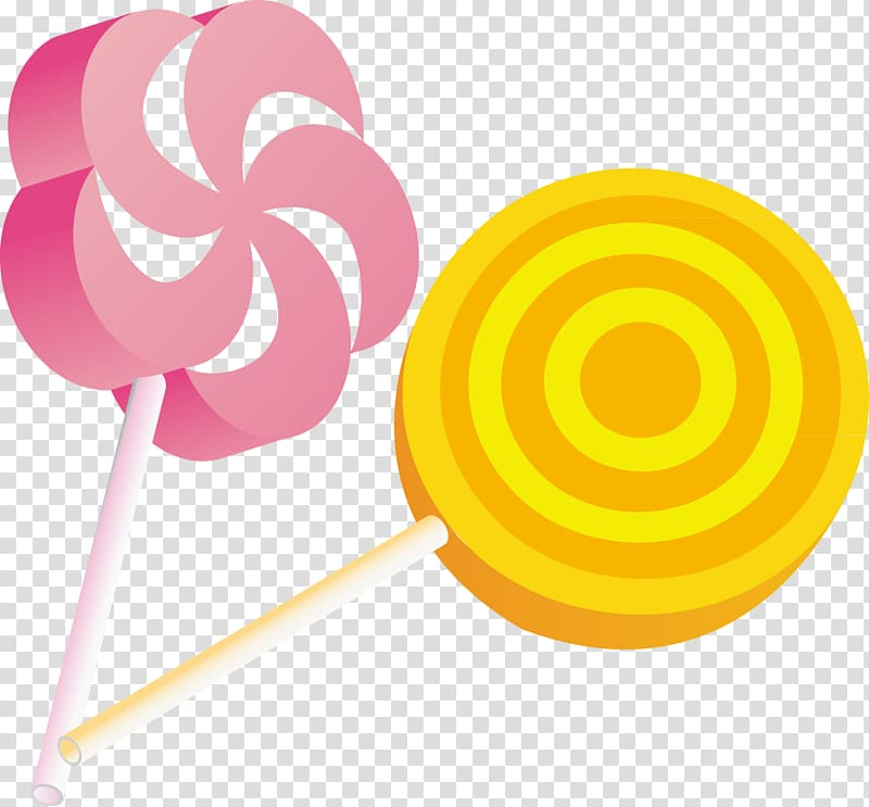 Pink and yellow lollipop illustrations, Lollipop , Lollipop.