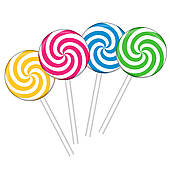 Lollipops Clip Art.
