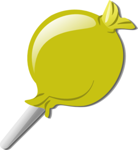 Yellow Lolly Clip Art at Clker.com.