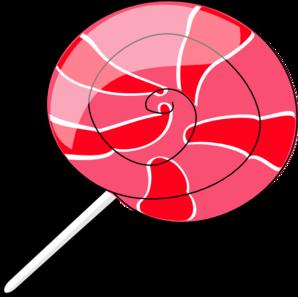 Large Pink Lollipop Clip Art at Clker.com.