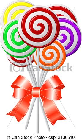 Swirl lollipop clipart.