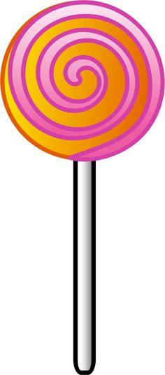 Lollipop vector clip art.