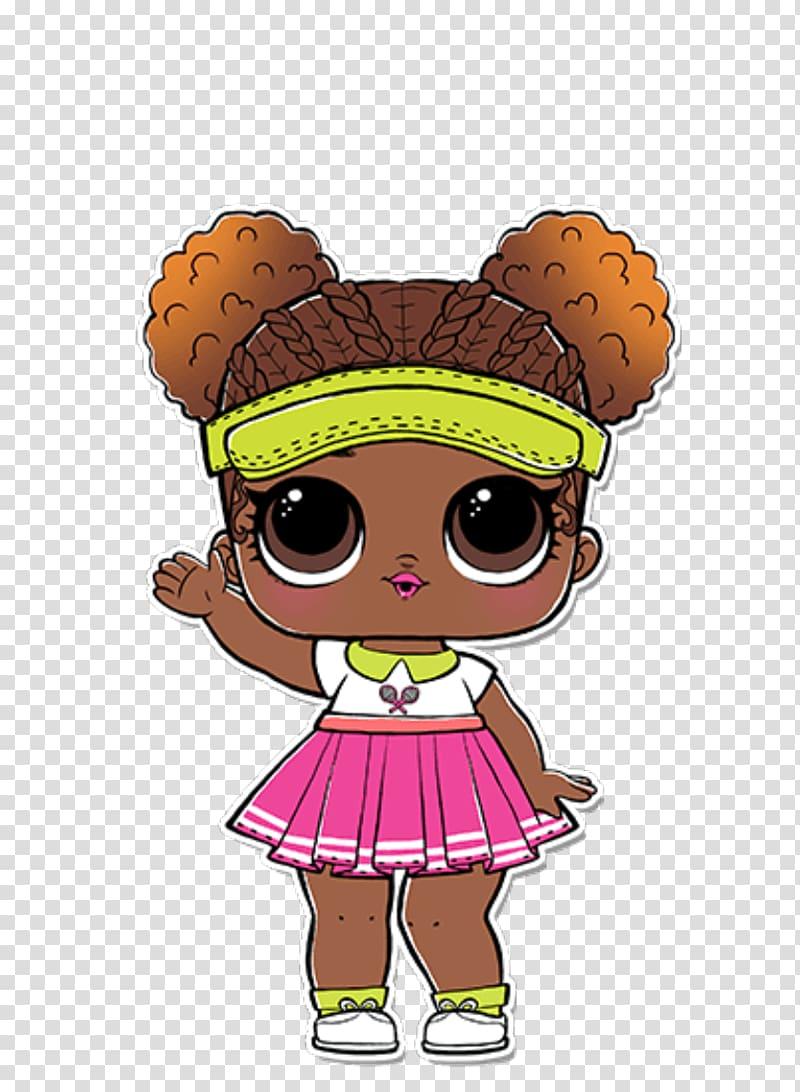 Girl illustration, L.O.L. Surprise! Lil Sisters Series 2.