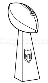 Super Bowl Trophy Coloring Pages.