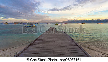 Stock Image of View of Lombok from Gili T.