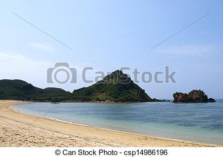 Stock Photographs of Blue beach Lombok Indonesia csp14986196.