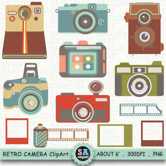 "Vintage Camera ClipArt ""CAMERA DIGITA""clipart,Lomo Camera,Vintage."