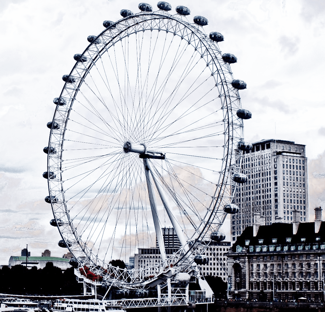 The London Eye transparent background.
