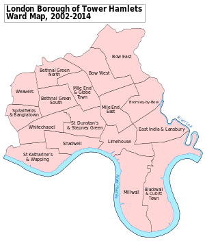 Tower Hamlets London Borough Council elections.