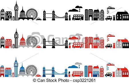 Vector Clip Art of Vector illustration of London city.