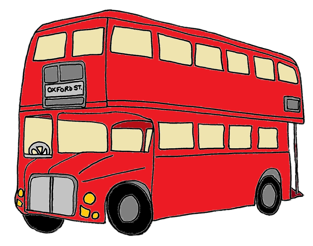 London red bus clipart.