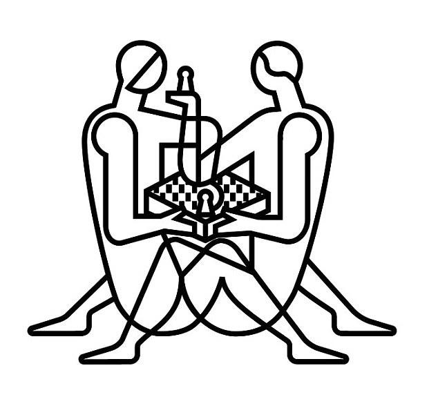 Grandmasters mock London\'s World Chess Championships logo.