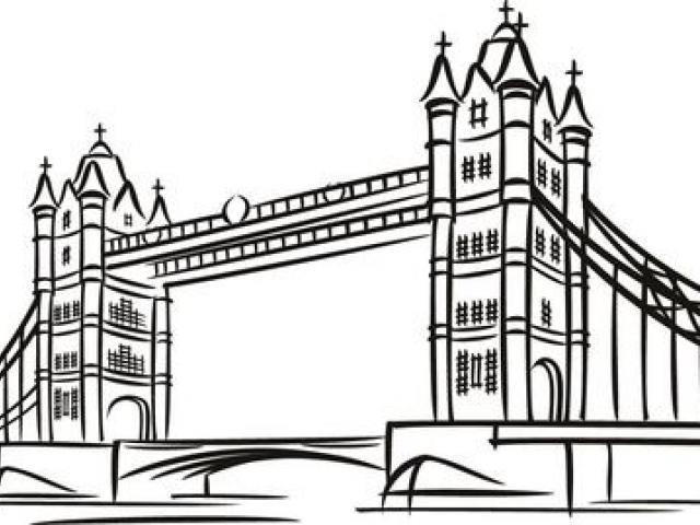 London Bridge Clipart Black And White.