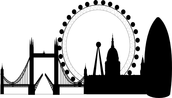 London Silhouette clipart.