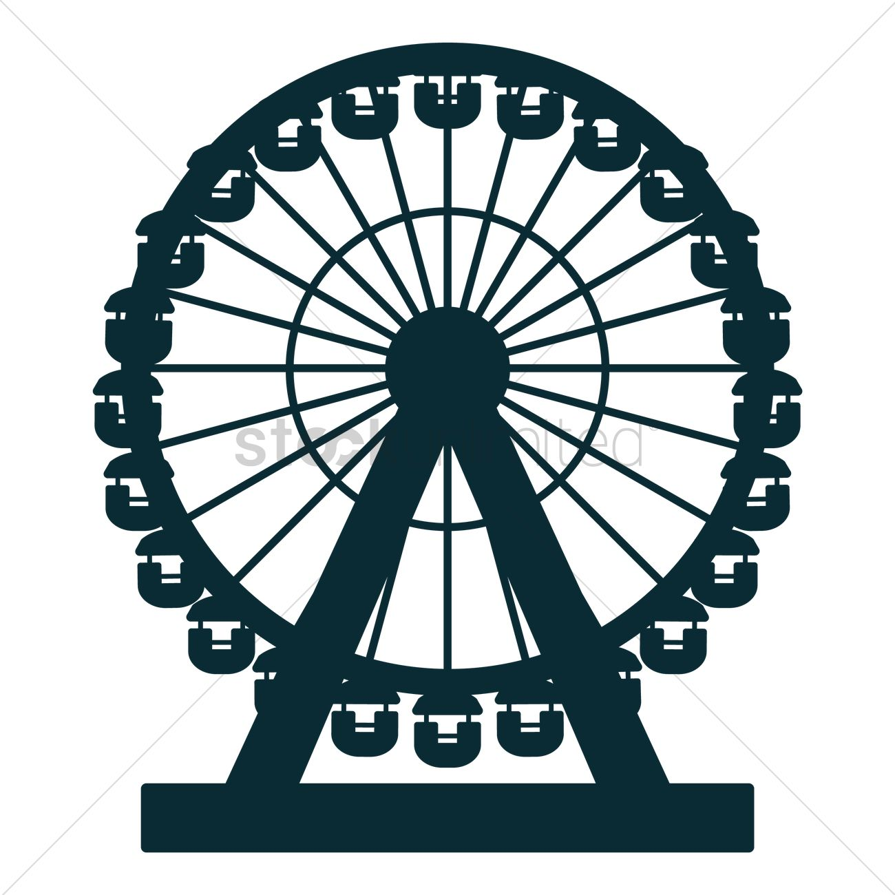 London eye Vector Image.