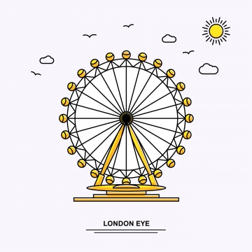 London Eye PNG Images.