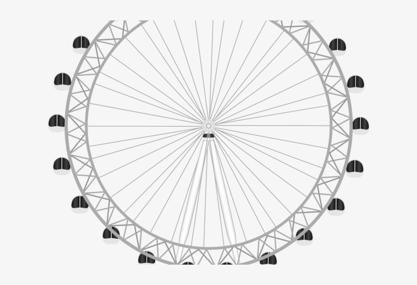 Drawn Ferris Wheel Transparent Background.