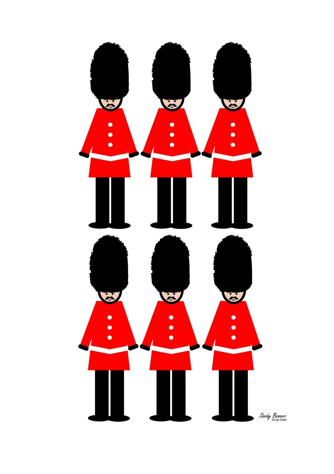 London guards soldier wall decor art print.