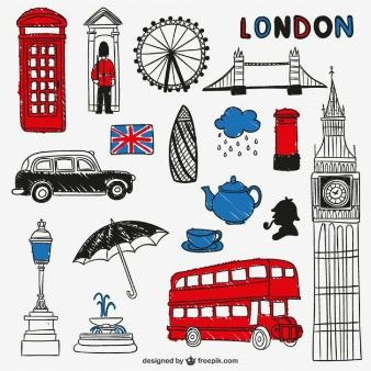 London landmarks and objects.