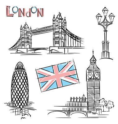 London landmark vector.