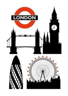 London Landmarks Letterpress Cards By Archivist Clipart.