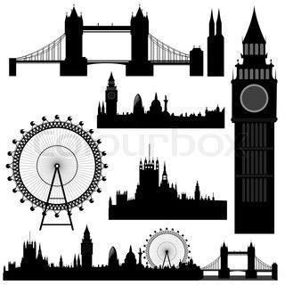 vector London landmarks.