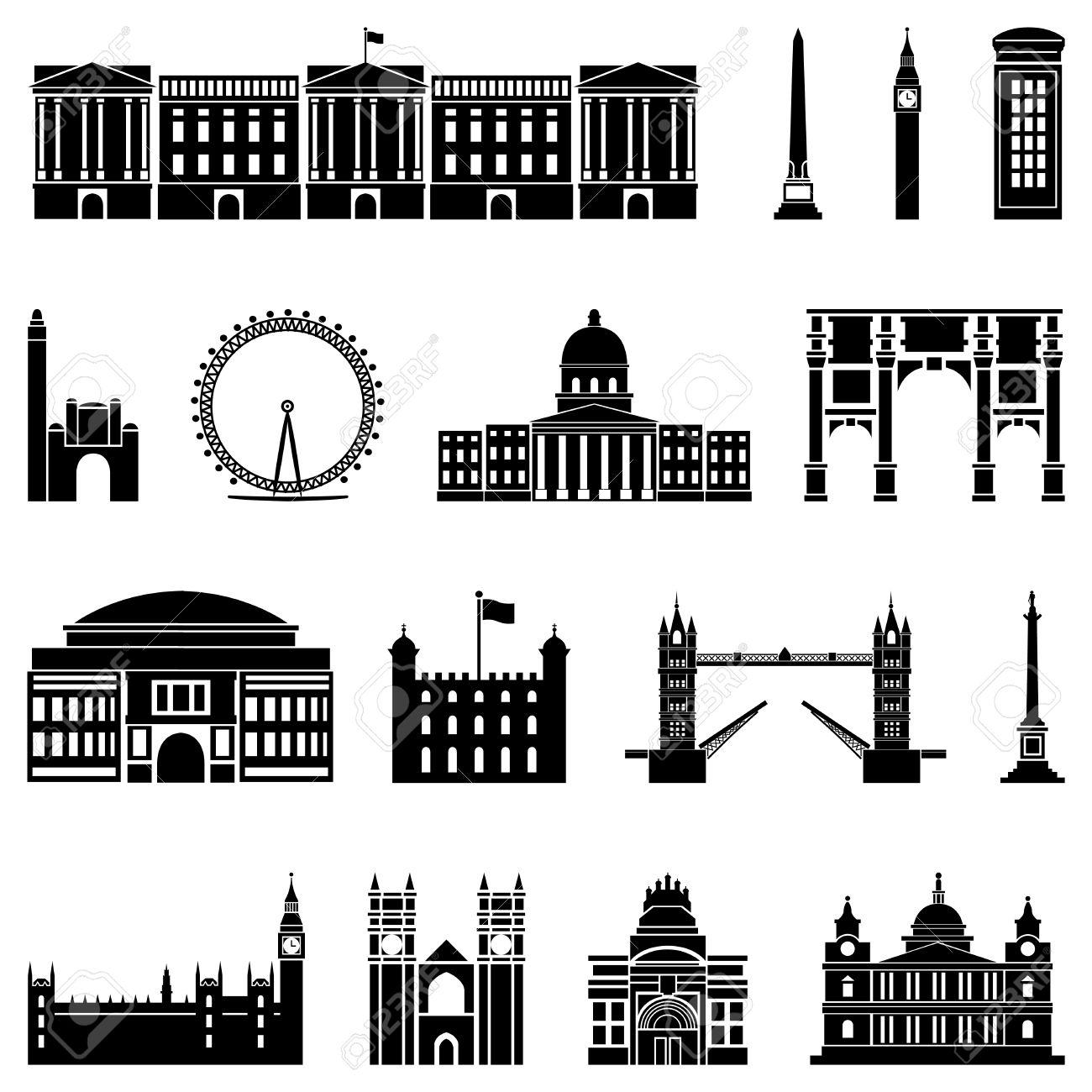 London Landmarks Silhouette.