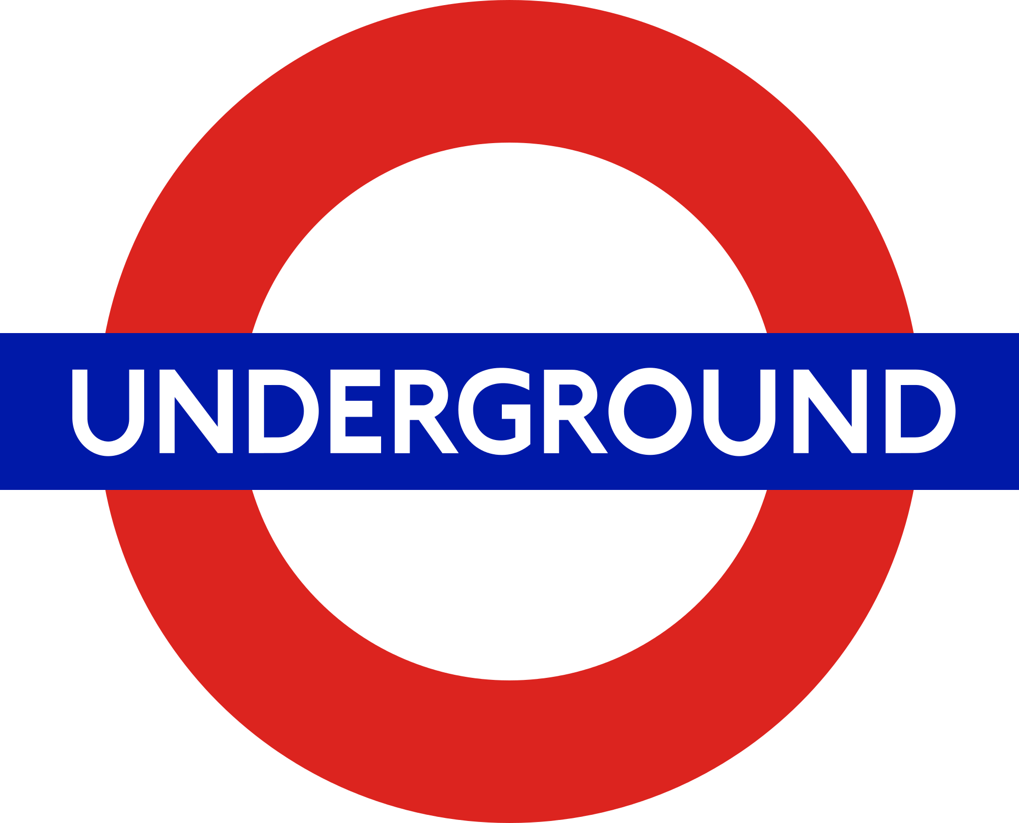 London Tube Logo Underground transparent PNG.