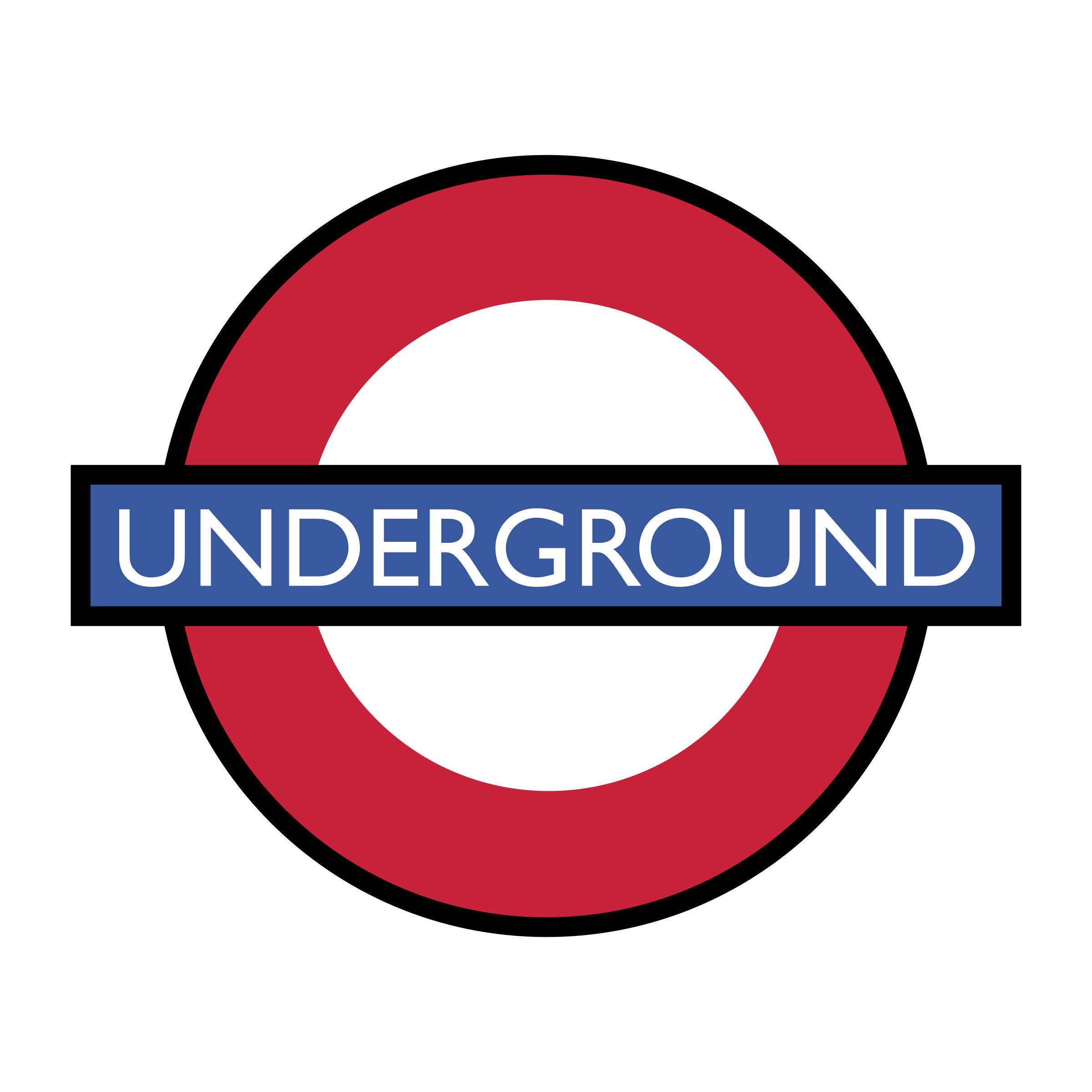London Underground Logo PNG Transparent & SVG Vector.