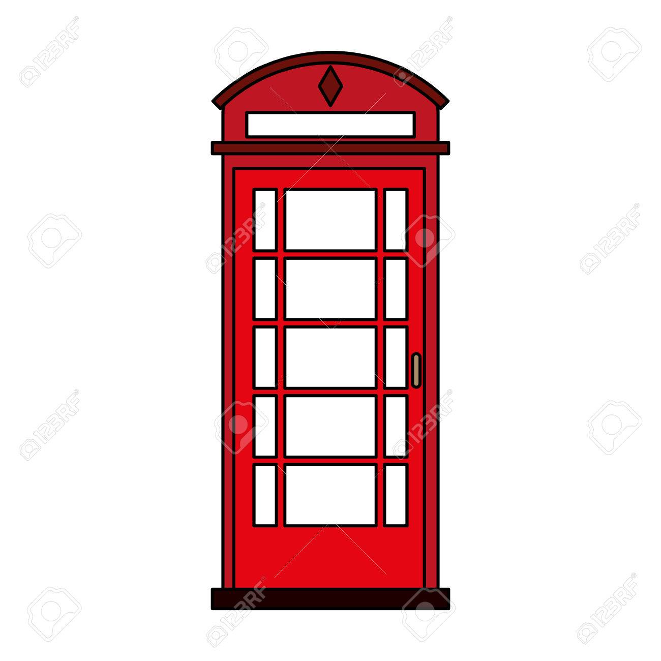 London Phone Booth Clipart.