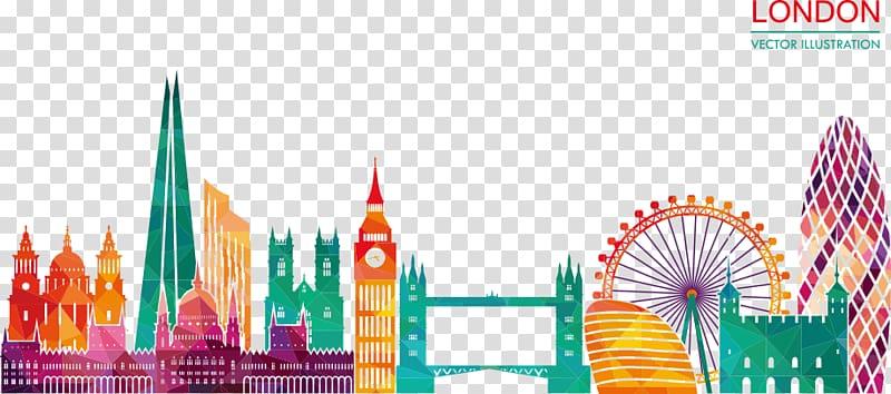 London illustration, Skyline Silhouette Illustration, London.
