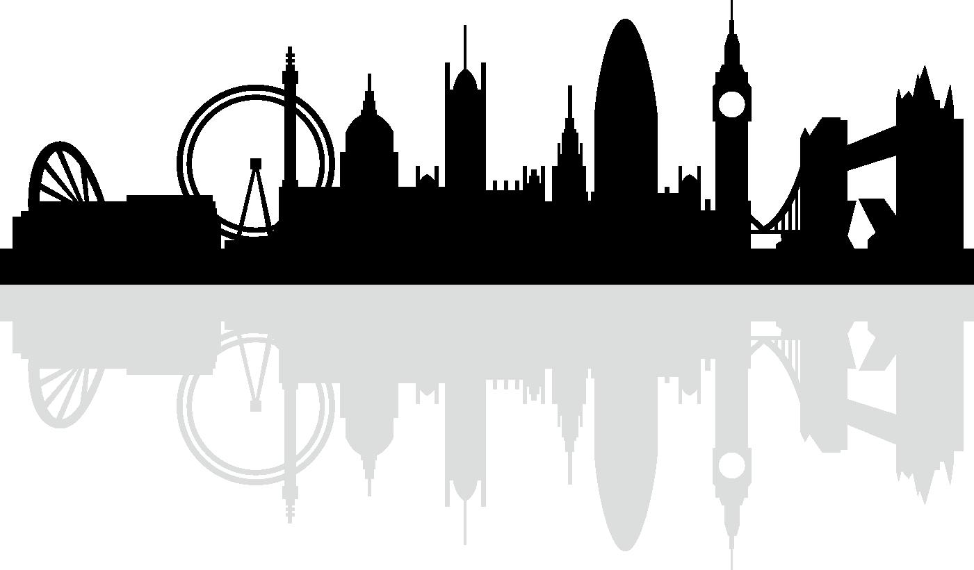 London Skyline Silhouette Royalty.