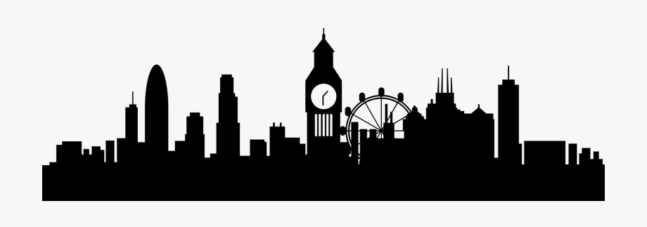 London Skyline Silhouette Drawing, Cliparts & Cartoons.