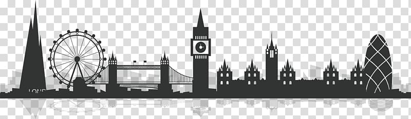London skyline illustration, City of London Silhouette.