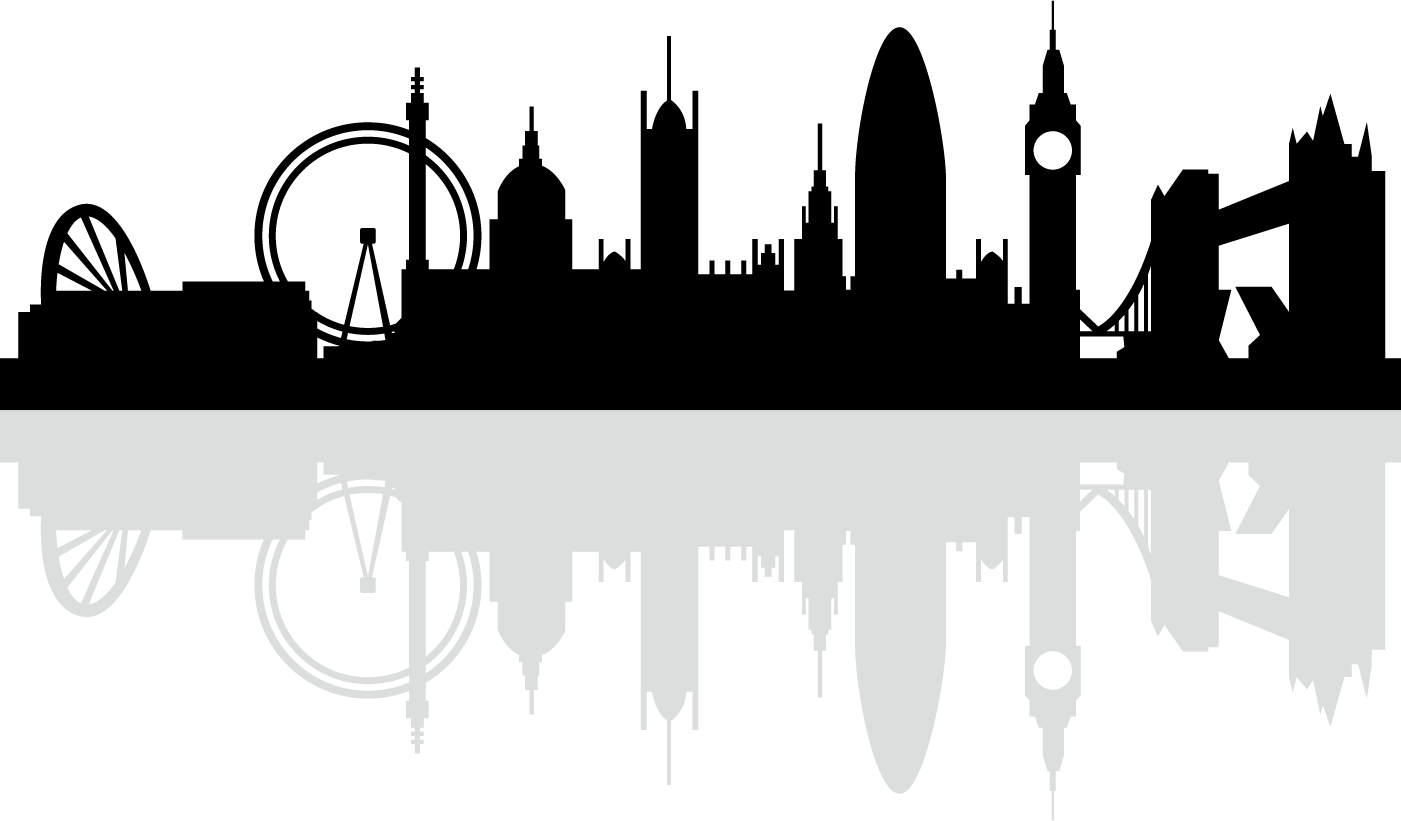 London Skyline Silhouette Royalty.