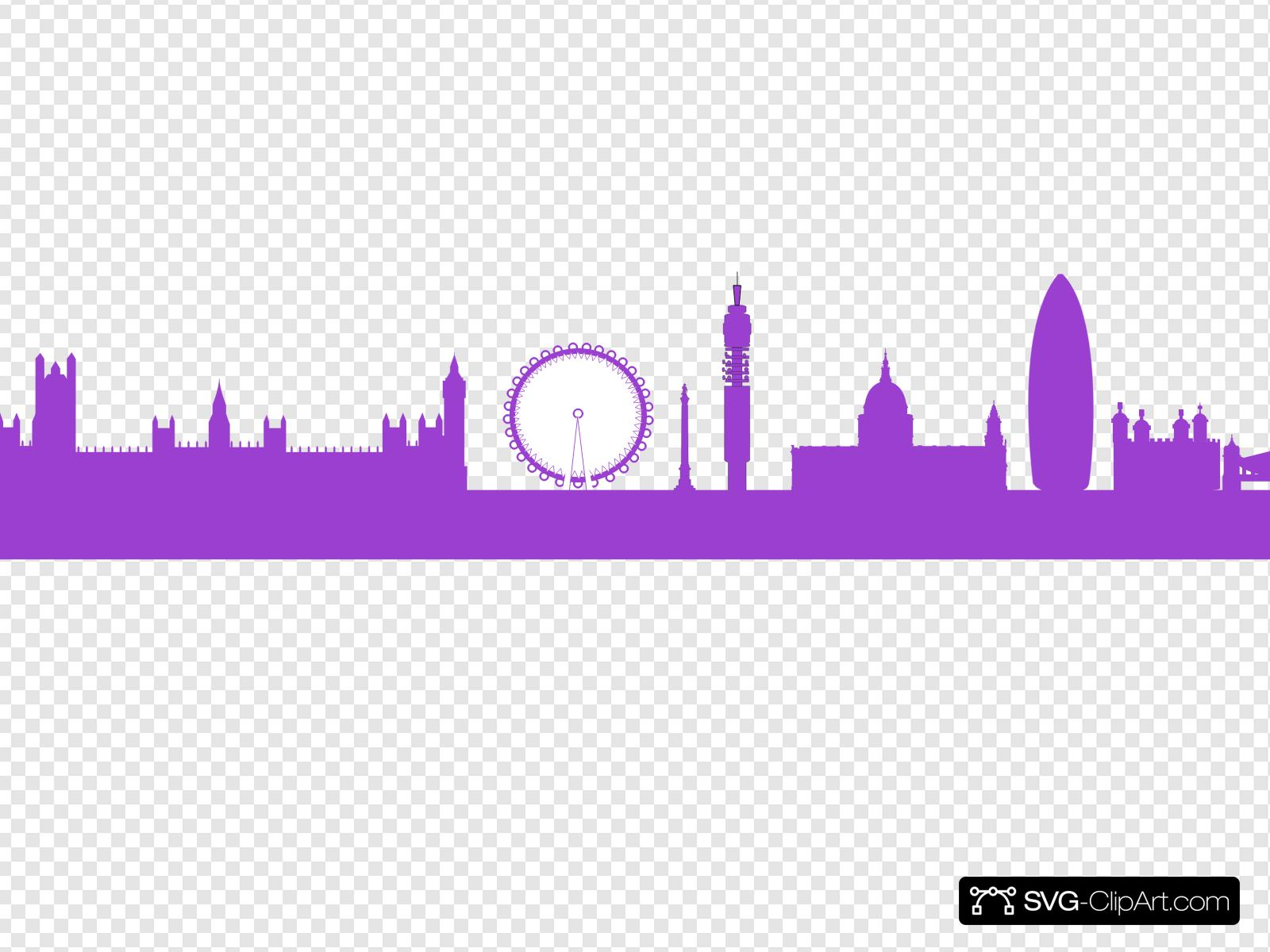 London Skyline Clip art, Icon and SVG.