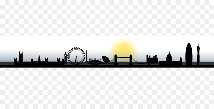London Skyline Silhouette clipart.