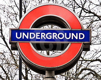 London Underground Sign Editorial Stock Photo.