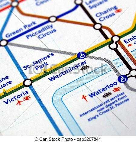london underground map clipart