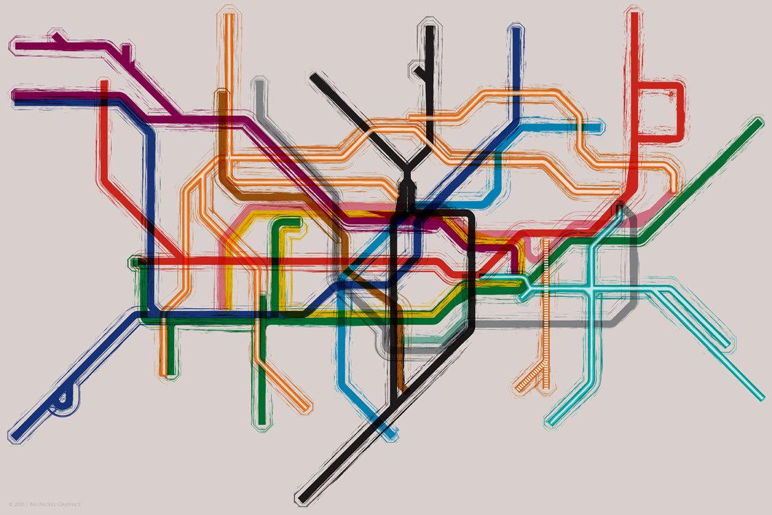 London underground map clipart.