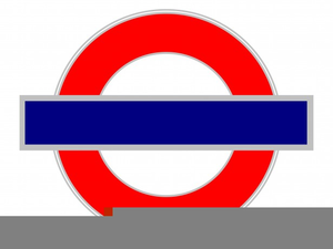 London Underground Sign Clipart.
